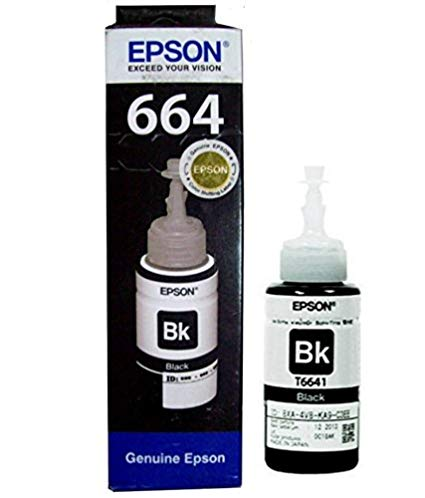 Epson Original Cartridge Ink Bottle 664 Black - BROOT COMPUSOFT LLP