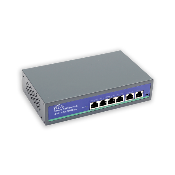 Velvu 4 Port PoE with 2 Up-Link ST-POE3106M