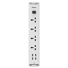 Philips Extension Surge Protector 4 Socket 4 USB Port SPN6247WD/94 - BROOT COMPUSOFT LLP