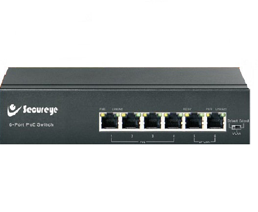 Secureye POE SWITCH 4 PORT   S-4FE-2UE-LD