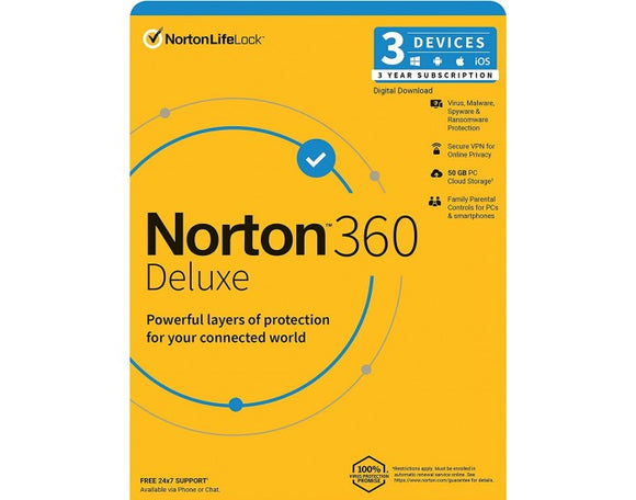 Norton Antivirus 360 DELUXE 3 USER 3 YEAR SY-21409774