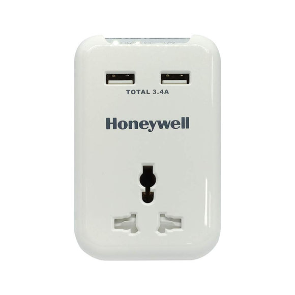 Honeywell Travel Surge Protector With 2X Usb Port - BROOT COMPUSOFT LLP