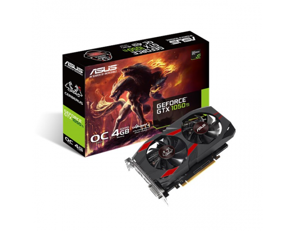 Asus GTX 1050TI 4GB DDR5 OC DUAL FAN Graphic Card          DUAL-GTX1050TI-4G