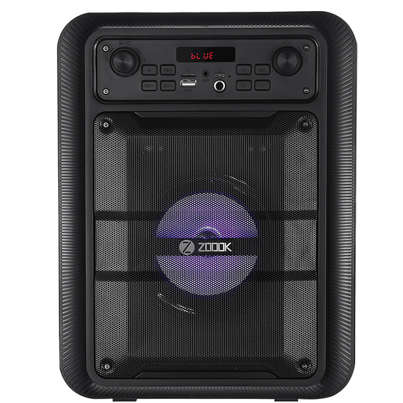 Zoook Wireless Portable Bluetooth Speaker with Wireless Mic  Rocker Thunder Pro
