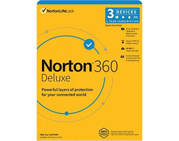 Norton Antivirus  360 DELUXE 3 USER 1 YEAR   SY-21409799