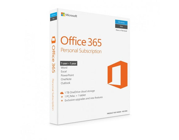 Microsoft Office 365 Personal  SUBSCRIPTION 1 YEAR  OFFICE 365 PERSONAL