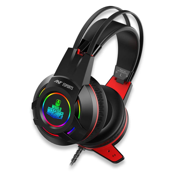Ant Esports Wired Gaming  Headphone H550W with Noise Cancelling Mic & RGB Light, Compatible with PC/Laptop - BROOT COMPUSOFT LLP