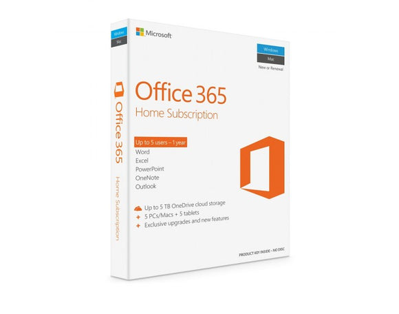 Microsoft Office 365 Home SUBSCRIPTION 1 YEAR  OFFICE 365 HOME