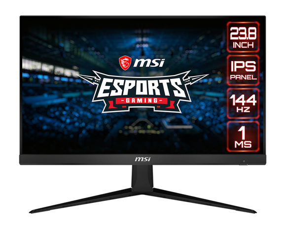 Msi Gaming Led Monitor 23.8 Inch Esport Gaming  Full HD - 144hz Refresh Rate - 1ms Response time – AMD Freey   Optix G241