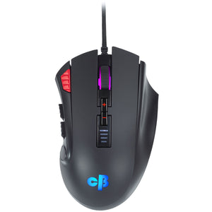 Cosmic Byte Equinox Gamma Wired Gaming Mouse, Pixart PMW3389 Sensor, Adjustable Weights, Spectra RGB with Software - BROOT COMPUSOFT LLP