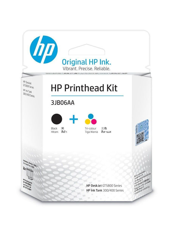 Hp Printhead Combo GT51 & 52 BLACK & COLOR 2-PACK  ORIGINAL  3JB06AA