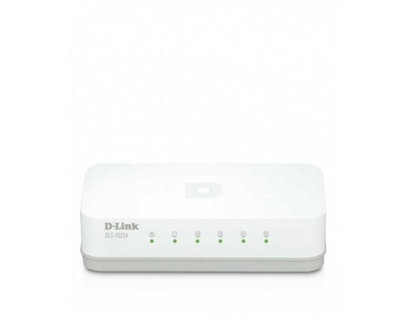 Dlink 5 Port 10/100 Mbps Unmanaged Desktop Switch DES-1005