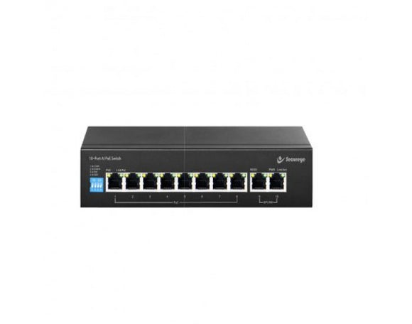 Secureye POE SWITCH 8 PORT 8+2 VLAN   S-8FE-2UE-LD-AI-VLAN