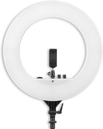 Digitek  ring light 18 inch big LED Ring Light with 2 color modes Dimmable Lighting | For YouTube | Photo-shoot | Video shoot | Live Stream | Makeup & Vlogging | Compatible with iPhone/ Android Phones & Cameras (DRL 18H) 5200 lx Camera LED Light
