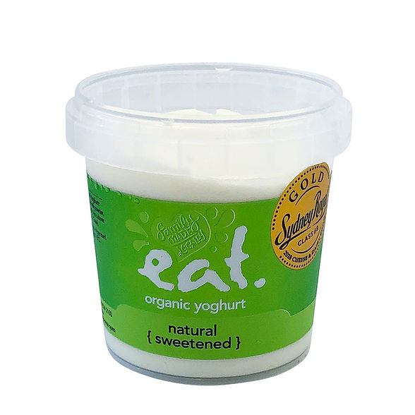 550g Eat Organic Yoghurt Naturally Sweetened
