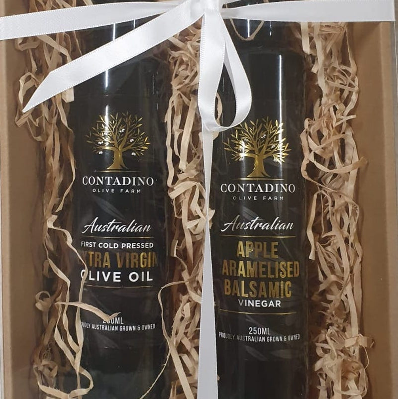 Gift Pack - 250ml Extra Virgin Olive Oil and Apple Caramelised Balsamic
