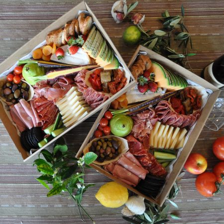 Deli Grazing Board: Charcuterie, Cheese, Crackers and Accompianments (LARGE 14 - 18pp)