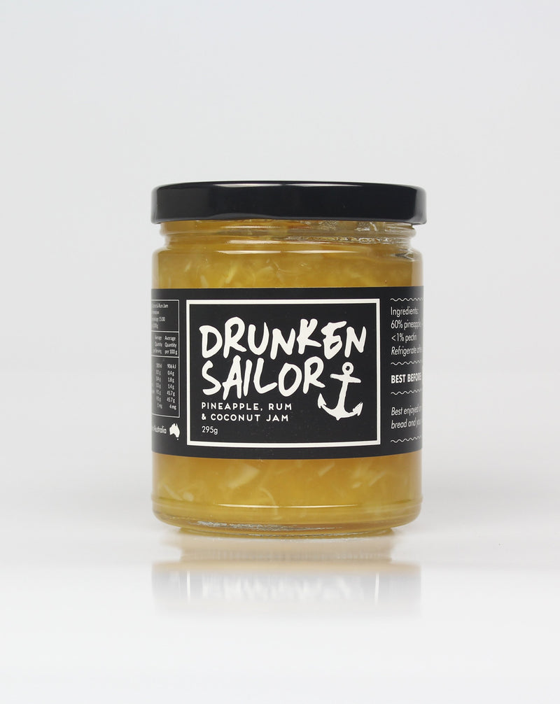 Drunken Sailor Pineapple, Coconut & Rum Jam 295g
