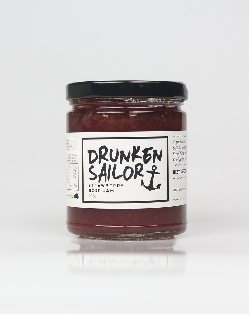 Drunken Sailor Strawberry Rose Jam 295g