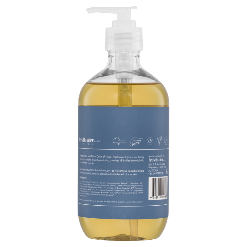 Blue Cypress + Juniper Berry Oil Calming Castile Hand Wash 500ml