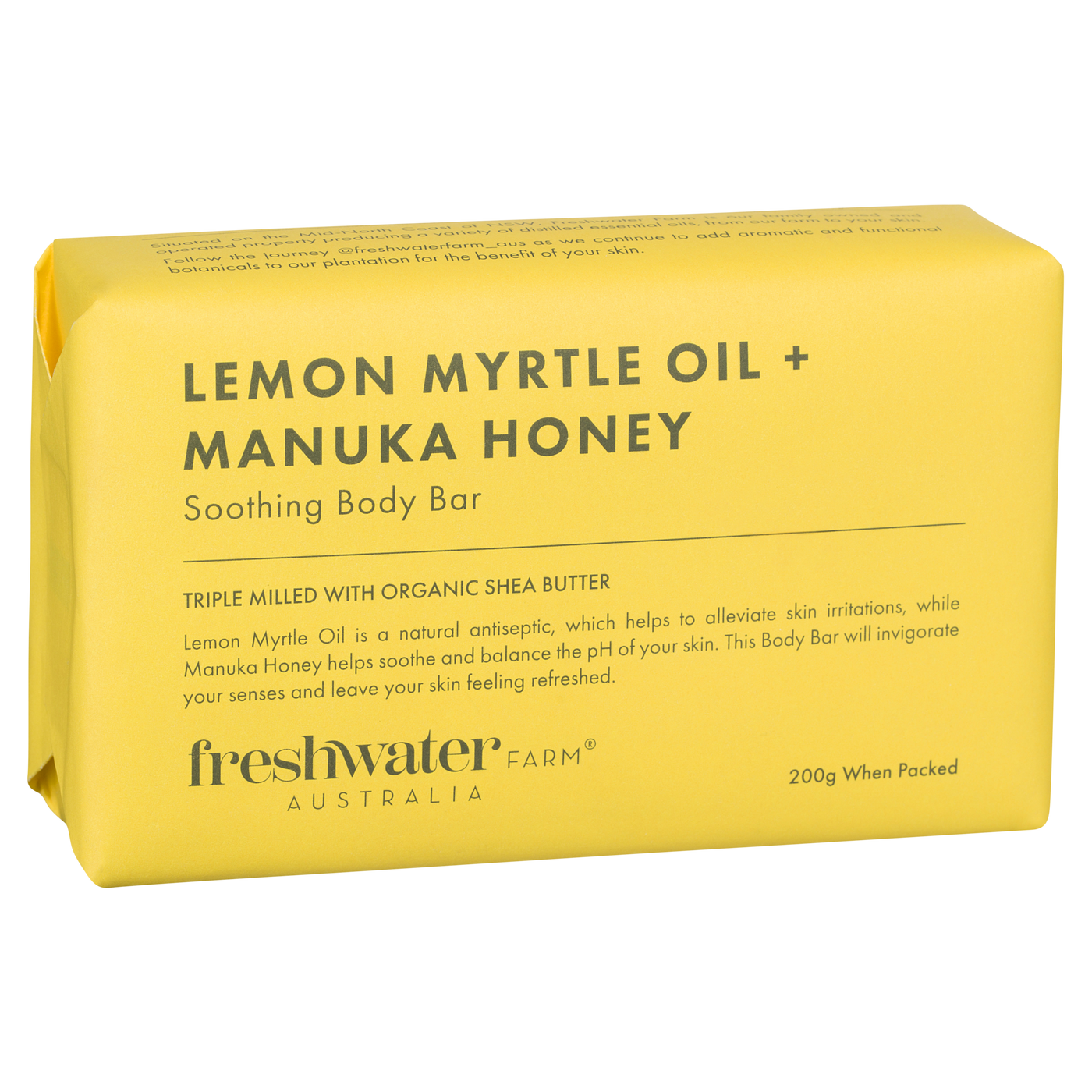 Lemon Myrtle Oil and Manuka Honey Body Bar Soap