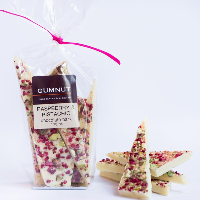 White Chocolate Raspberry & Pistachio 100g
