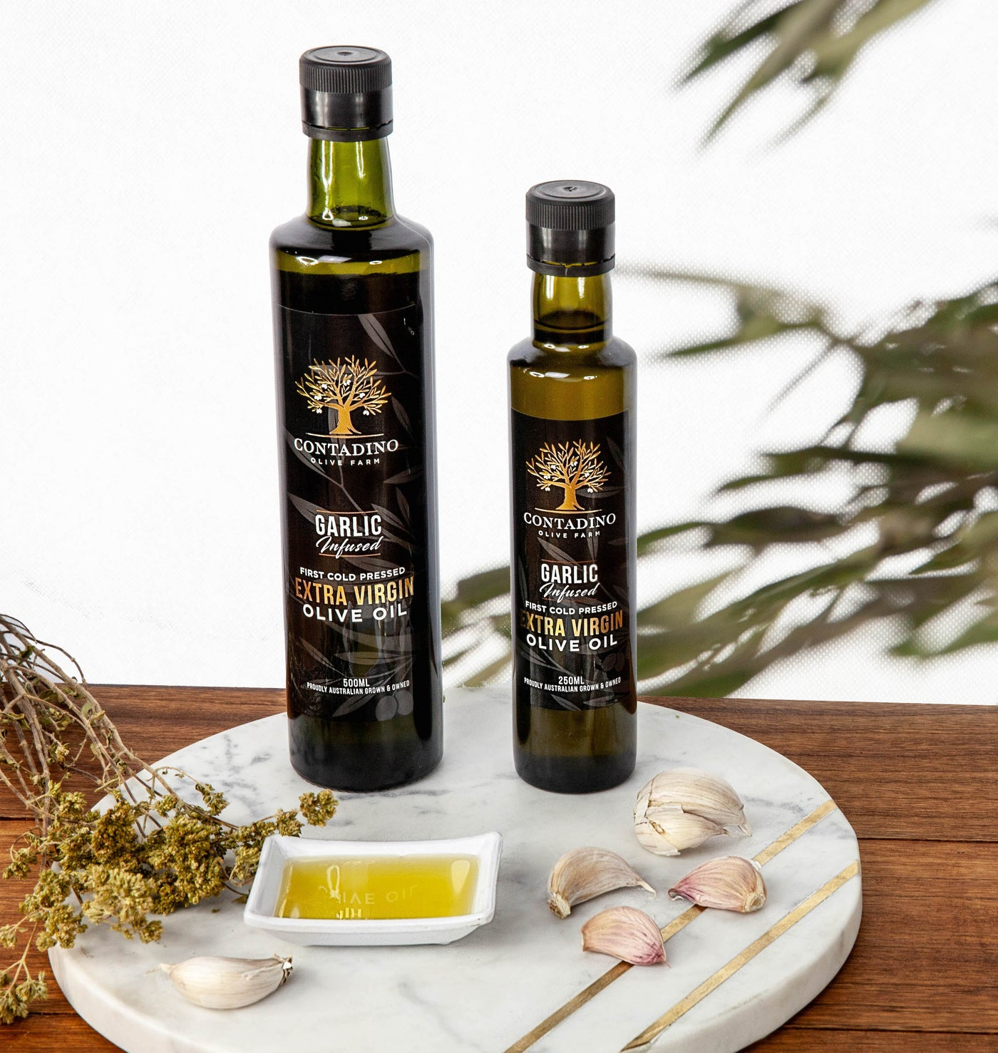 Australian Extra Virgin Olive Oil Garlic Infused - 250ml