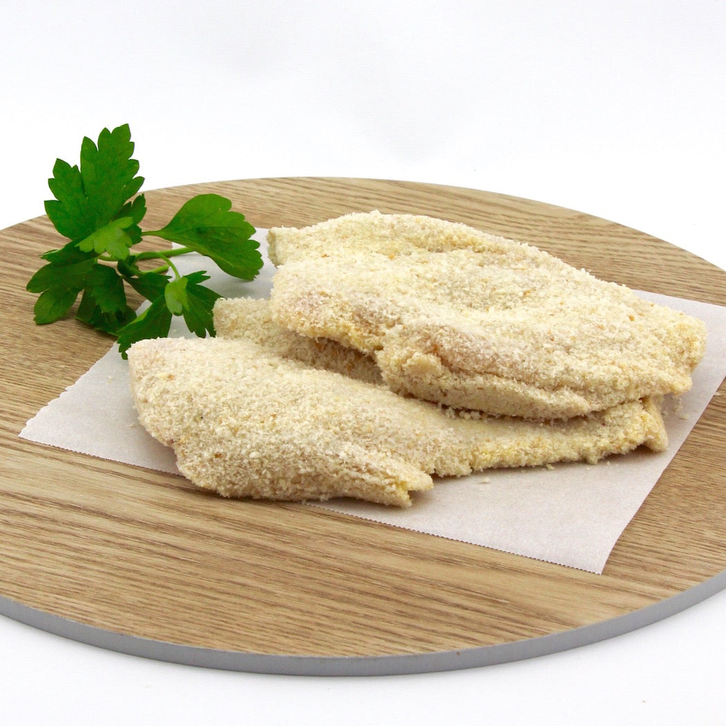 Chicken SchnitzelÊ PLAIN - Crumbed EACH (approx. 250g)