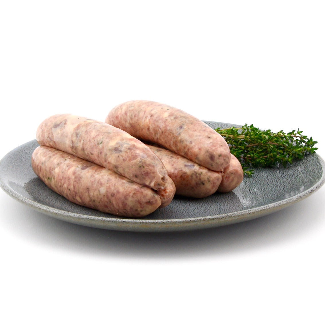 Pork Belly Sausages with Caramelised Beetroot and Halloumi Cheese x 6 (approx. 600g - 650g)