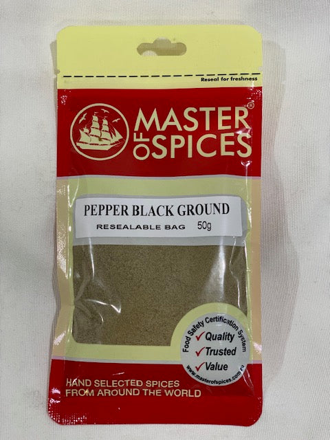 Master of Spices - Pepper Black Ground 50g