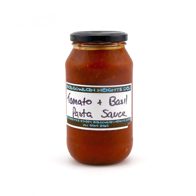 Homemade Tomato & Basil Pasta Sauce (Jar) approx 450ml