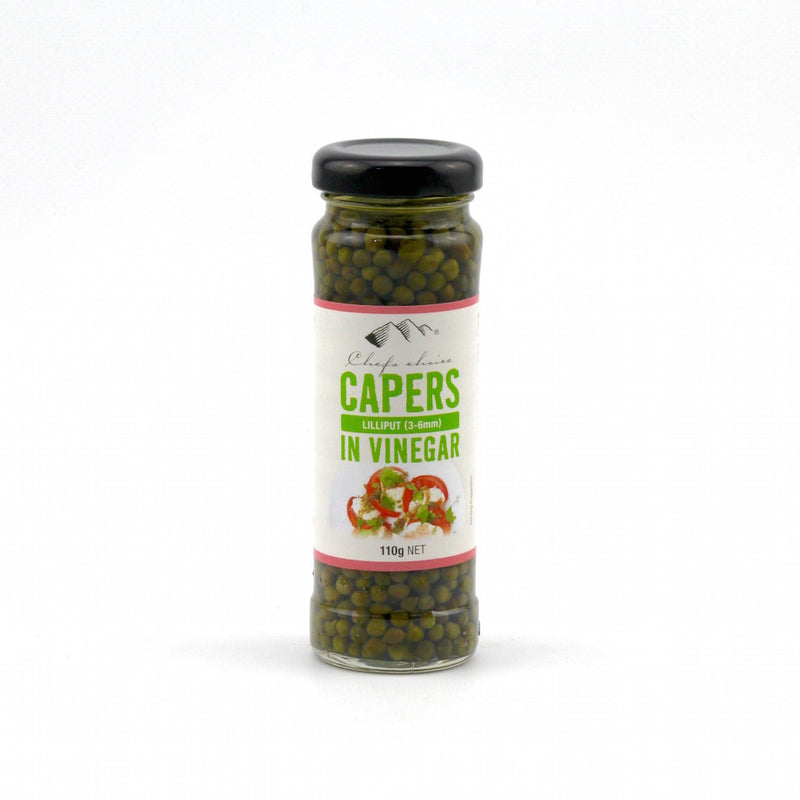 Chefs Choice Capers in Vinegar 110g (Liliput 3-6mm)