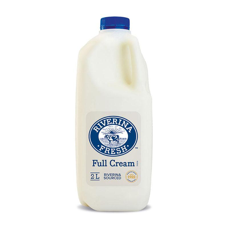 Riverina Fresh 2lt bottle of milk