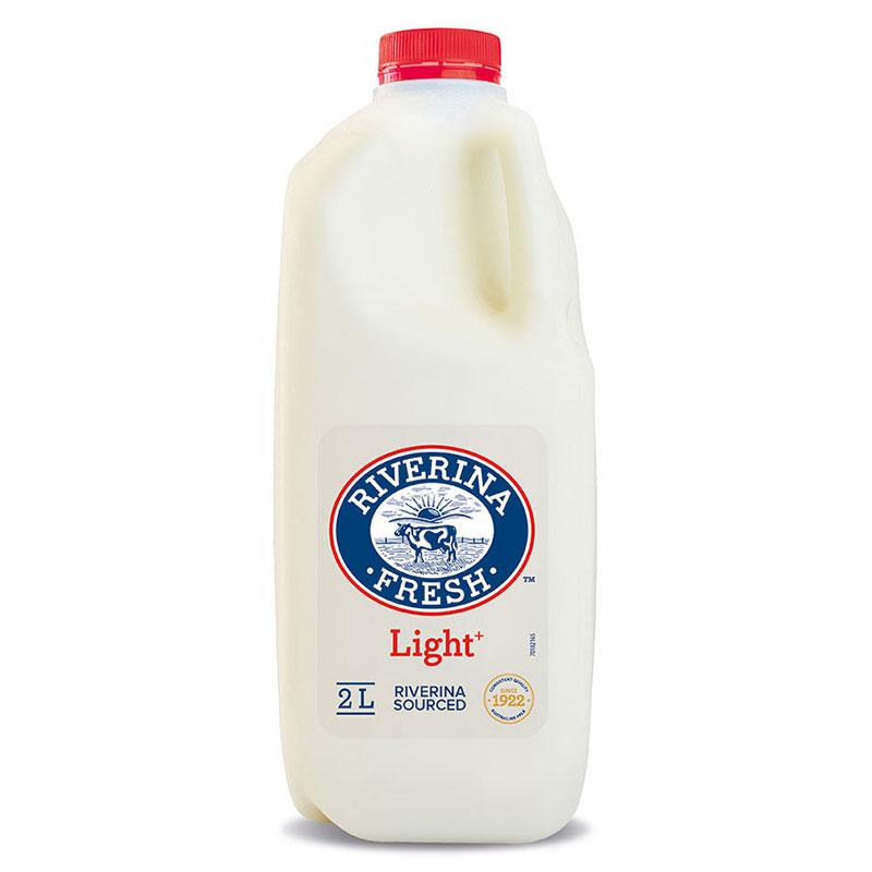 Riverina Fresh 2lt bottle of Lite Milk