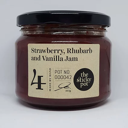 Strawberry Rhubarb & Vanilla Jam 300g