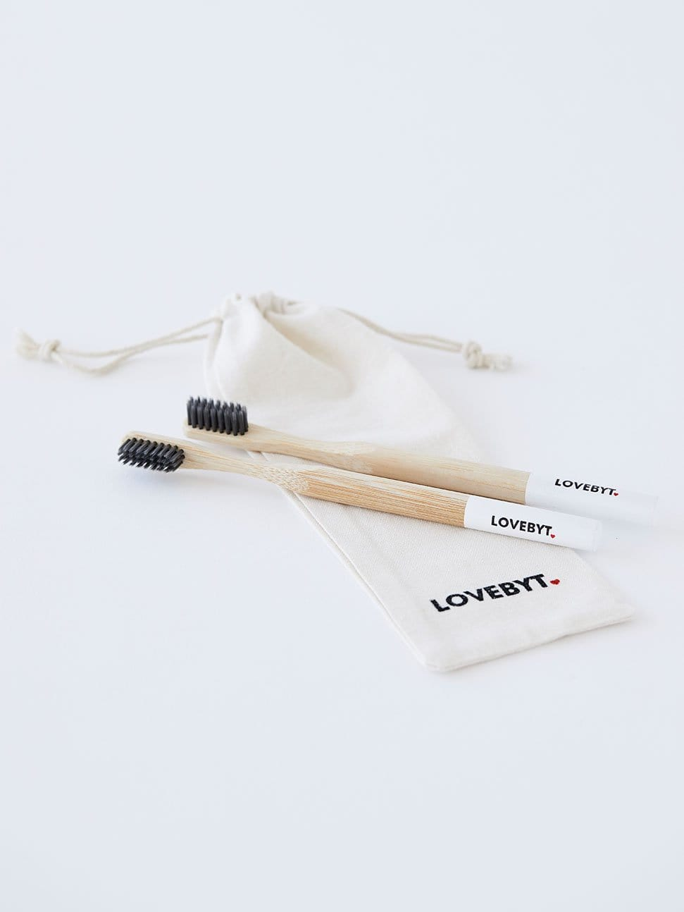 LOVEBYT BAMBOO TOOTHBRUSH - two per bag