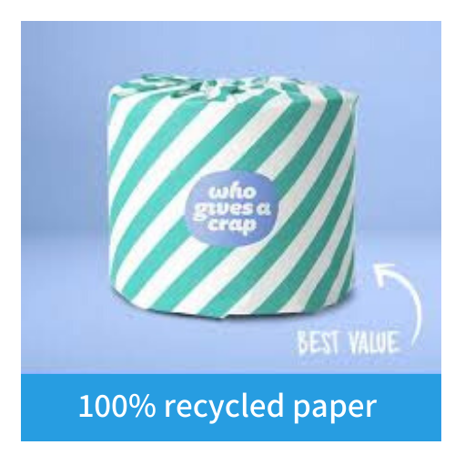 100% Recycled Toilet Paper