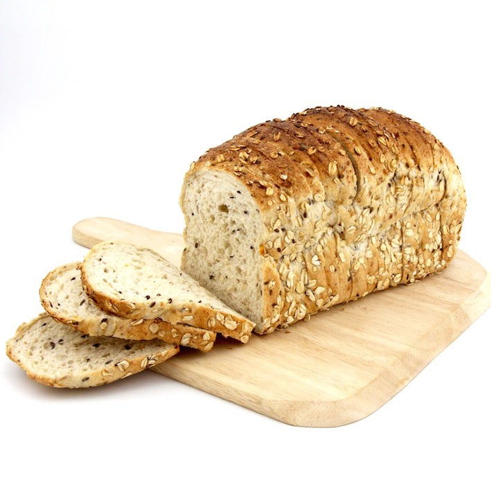 Organic Seven Grain Kibble and Stoneground Kamut Loaf - Sliced