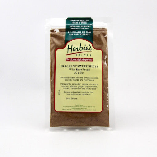 Herbie's Fragrant Sweet Spices With Rose Petals - 30g