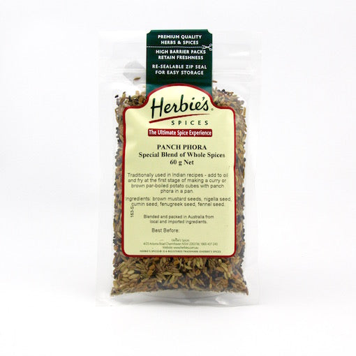 Herbie's Panch Phora Special Blend of Whole Spices - 60g