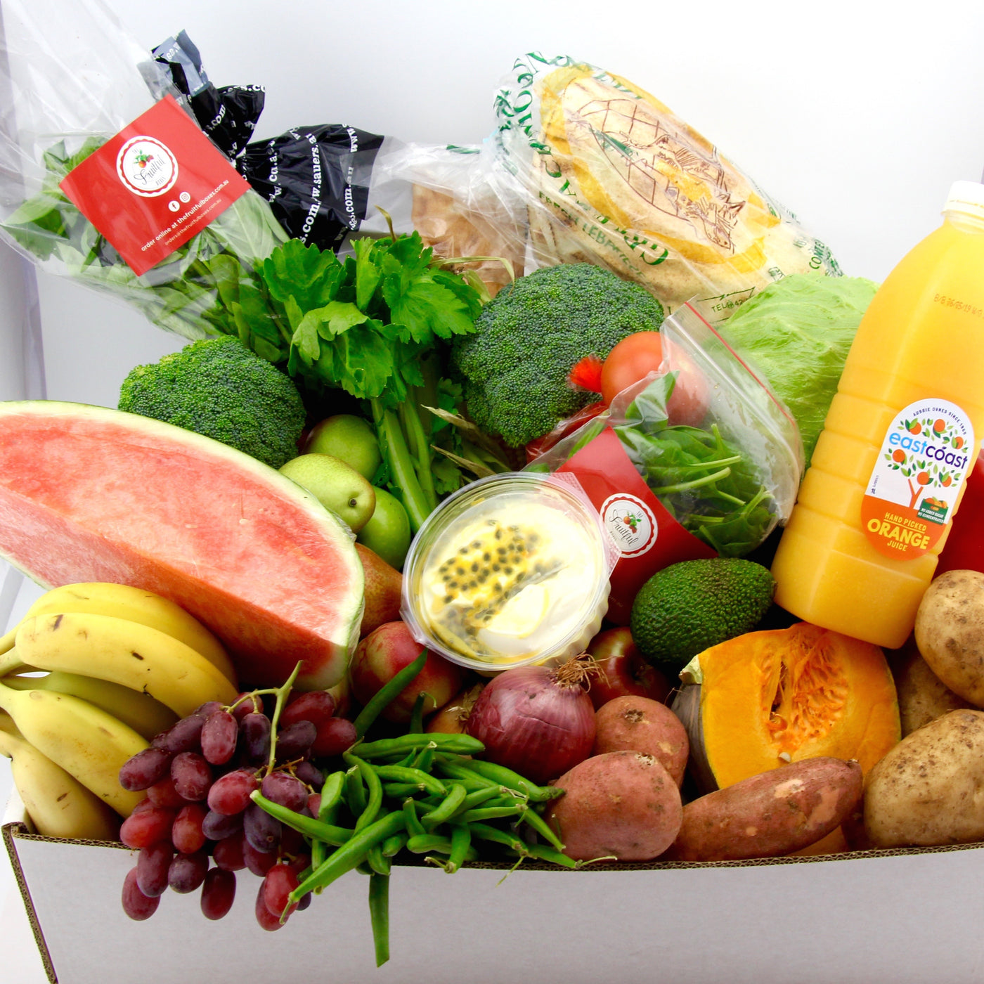 Wednesday - Large Growers Market Box  (with Juice, Yoghurt & Bread)
