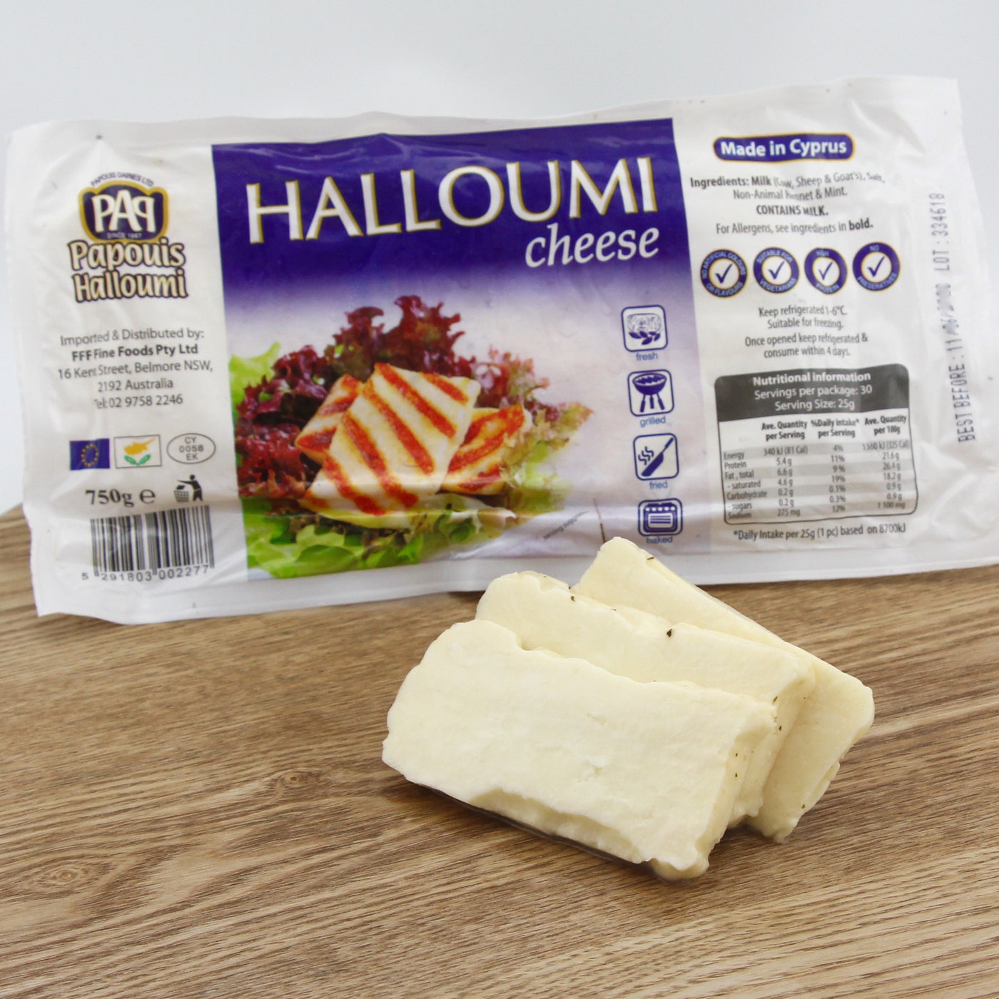 Haloumi Cheese Imported from Cyprus 750g