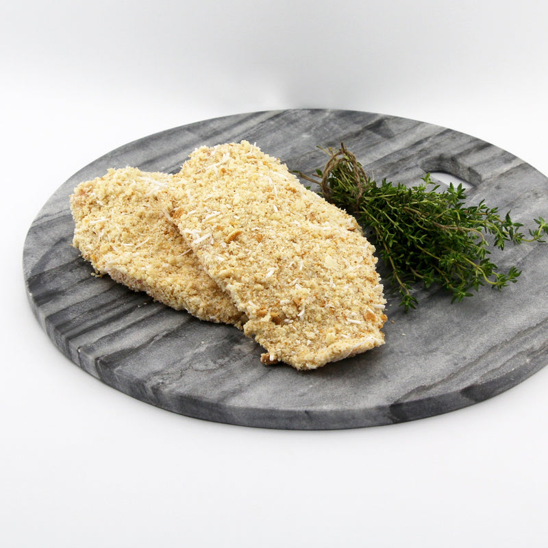 Free Range Chicken Schnitzel with GF Coconut Crumb