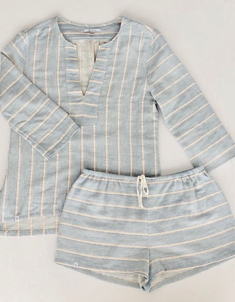 Awaken Tunic Set Chambray Stripe