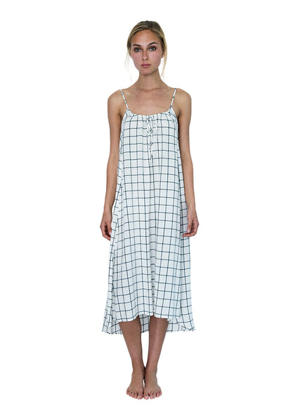Beckon Sleep Gown Windowpane