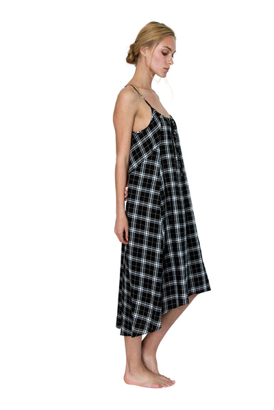 Beckon Sleep Gown Plaid