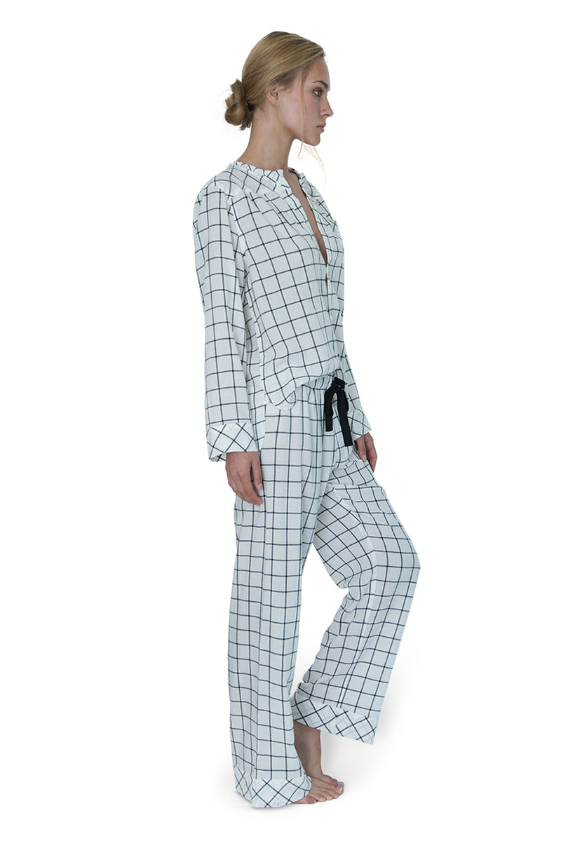 Wander Pajama Set Windowpane