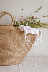 Large jute rope basket bag