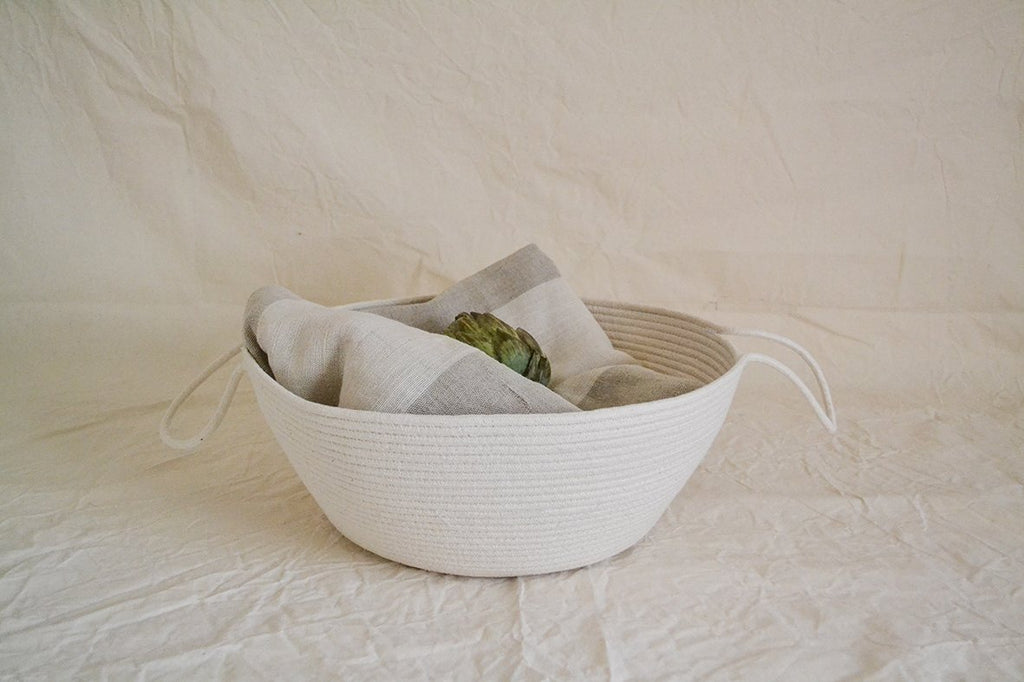 Cotton rope storage basket