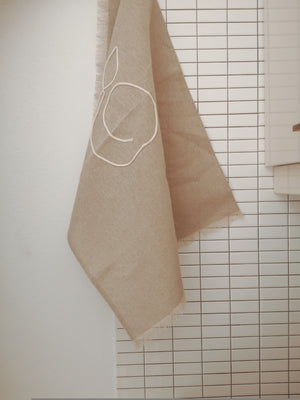 Set of two Narutal Linen Kitchen Towel